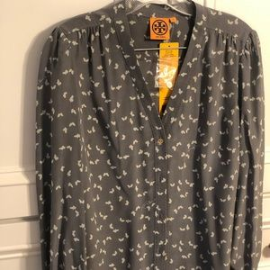 Tory Burch Dove Detail Blouse.  NWT
